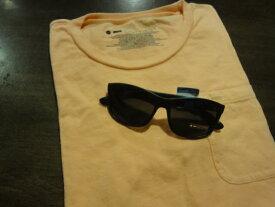 ■ドットダッシュ(DOT DASH)■ポケットTシャツ+サングラス(POSEUR) スペシャルセット■コーラルオレンジ■(メンズ)S/M/Lサイズ