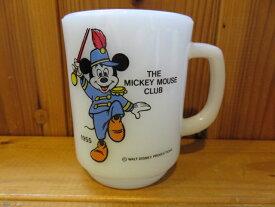 ■アンカーホッキング(ファイヤーキング)■ミッキー 9オンスマグカップ■白■ディズニーシリーズ ミッキーマウスラブ■1976年以降製造■P-037