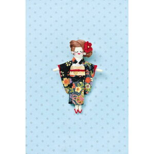 タカギ繊維 人形用ドレスキットパート 着物2 メール便/宅配便可  nb-25
