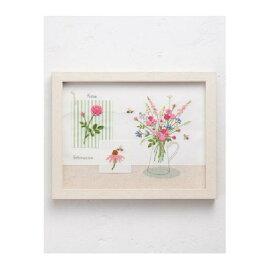 ルシアン 刺繍キット 青木和子 カラーコレクション ピンクメール便/宅配便可  no-965