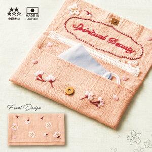 オリムパス フランス刺繍キット 花言葉のたしなみポーチ さくら メール便/宅配便可  olhn-9086