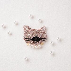 アクセサリーキット ブローチ mizuhikigirlさんの猫 結びキット ブローチ buchi 同色2個セット PHC-054-2 メール便/宅配便可