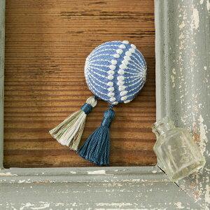 アクセサリーキット ブローチ 刺しゅうのアクセサリーキット 大人モダンなブローチ blue PHC-056-2 メール便/宅配便可