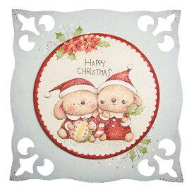 ABCクラフトオリジナルパターンパケット  埜口智佳子 デザイン・チビウサギのハッピークリスマス メール便/宅配便可  at58-001