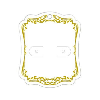 ピアス・イヤリング専用台紙M(ホワイト) 19-2612 手作り 小物 abcクラフトメール便/宅配便可