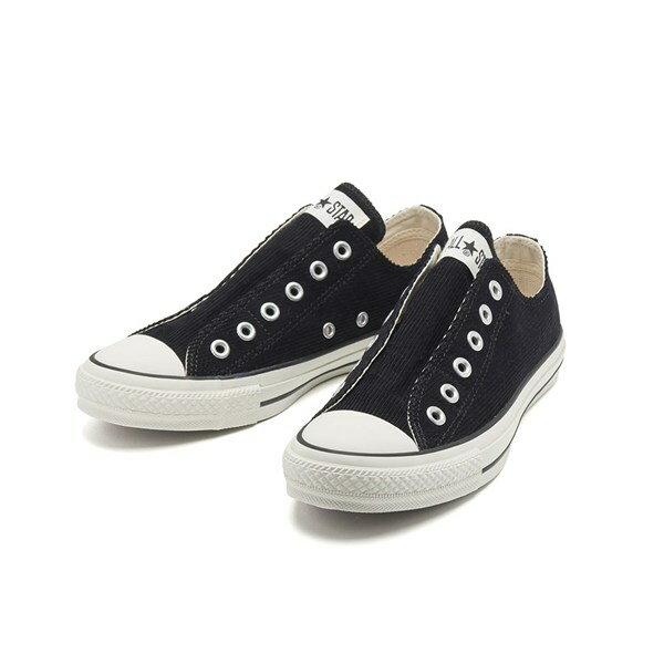 【CONVERSE】 コンバース ALL STAR CORDUROY SLIP OX オールスター コーデュロイ スリップ オックス 32862581 *BLACK