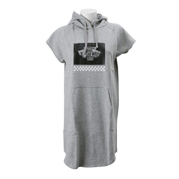 レディース 【VANSアパレル】 ヴァンズ パーカー ワンピース SK8BOX Logo Hoodie Dress VA17SS-GO02 HEATHER-GRAY