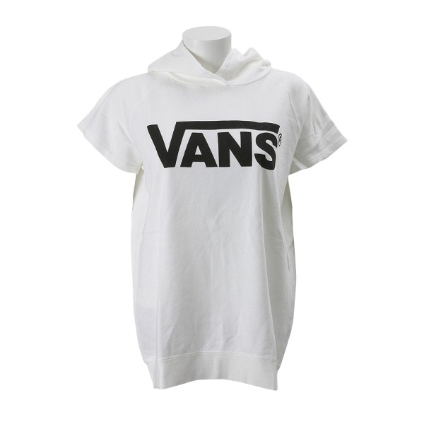 レディース 【VANSアパレル】 ヴァンズ パーカー FLYING Logo S/Sleeve Hoodie VA16SS-GC52MS WHITE-BLACK