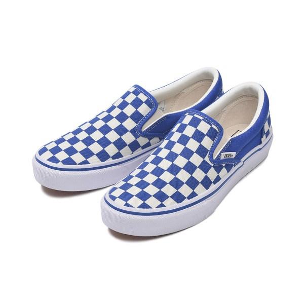 【VANS】 SLIP ON ヴァンズ スリッポン V98CL CHECK 18SP BLUE/CHECK