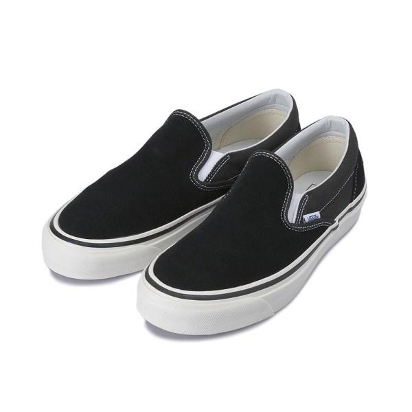 【VANS】 CLASSIC SLIP-ON 98 DX ヴァンズ クラシックスリッポン 98 DX VN0A3JEXQU1 17HO (ANAHEIM)BLACK