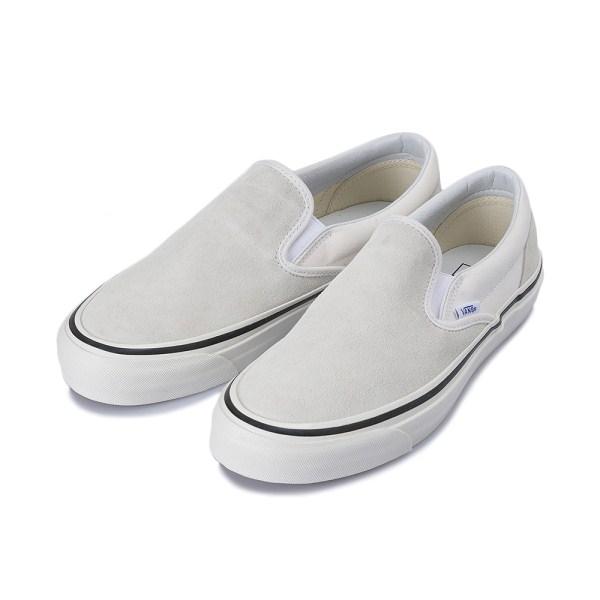 【VANS】 CLASSIC SLIP-ON 98 DX ヴァンズ クラシックスリッポン 98 DX VN0A3JEXQU2 17HO (ANAHEIM)WHITE