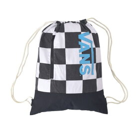 【VANSアパレル】 ヴァンズ ジムサック Checker Zip Snap Bag VA18SS-UB01 18SP WHITE
