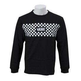 【VANSウェア】VANS CHECKER L/S-TEE ヴァンズ ロングスリーブTシャツ CD19SS-MT20 BLACK
