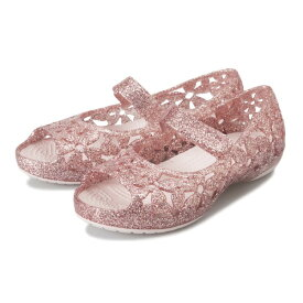 キッズ 【crocs】 クロックス Crocs Isabella Flower Flat (14-19) クロックス イザベラ フラワー フラット 205461-6PI 19SP Barely Pink