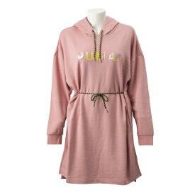 レディース 【PUMA ウェア】 プーマ ウェア W CHASE フーデッドドレス 595954 14BRIDAL ROSE