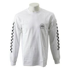 【VANSウェア】VANS Checker L/S T-Shirt ヴァンズ ロングスリーブTシャツ VA19FW-MT03 WHITE