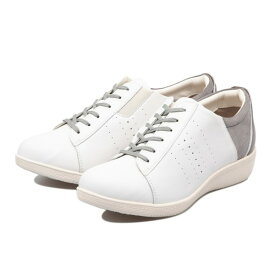 【TEXCY】 テクシー LACE-UP CASUAL SNEAKER レースアップ カジュアル スニーカー TL-17340 WHITE GRAY