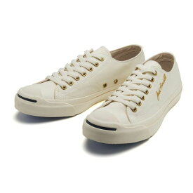 【CONVERSE】 コンバース JACK PURCELL LOGOSTITCH RH ジャックパーセル ロゴステッチ RH 33300201 WHITE/GOLD WHITE/GOLD