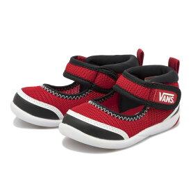 ベビー 【VANS】 ヴァンズ ベビーシューズ U-TA V7009N BABY RED/BLACK