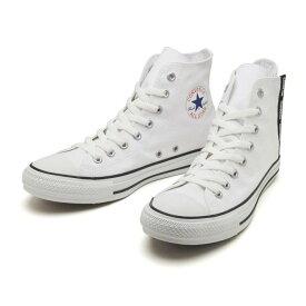 【CONVERSE】 コンバース ALL STAR LOGOFLAPZIP HI オールスター ロゴフラップジップ ハイ 31302612 WHITE