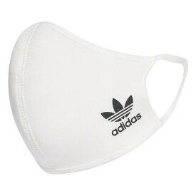 【adidas】 アディダス Face cover Kids(OG) フェイスカバー 3枚組 HB7855 WHITE/BLACK