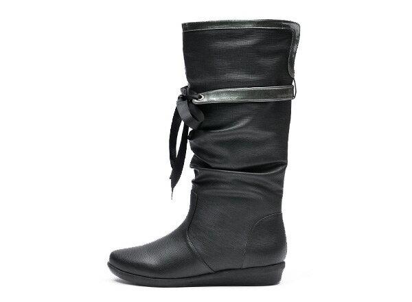 【NUOVO】 ヌオーヴォ レインブーツ 長靴 NC20009 RIBBON RAIN 3 ヒール3cm SP13 BLACK