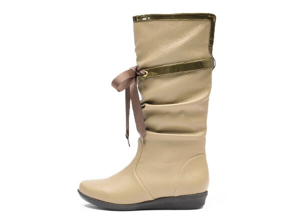 【NUOVO】 ヌオーヴォ レインブーツ 長靴 NC20009 RIBBON RAIN 3 ヒール3cm SP13 OAK