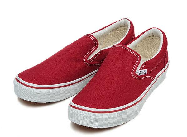 【VANS】 ヴァンズ SLIP ON スリッポン V98CLA T.RED