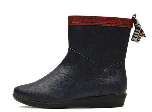 【NUOVO】 ヌオーヴォ バックテープレインブーツ 長靴 NC20014 B-TAPE RAIN 3 ヒール3cm NAVY