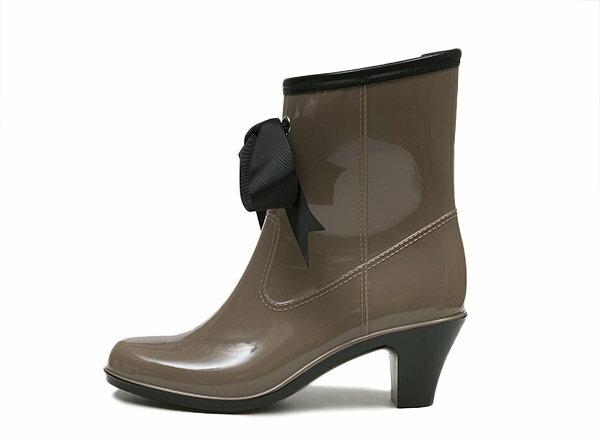 【NUOVO】 ヌオーヴォ リボンレインブーツ 長靴 NE20008 B,RIBBON RAIN 6 ヒール6cm