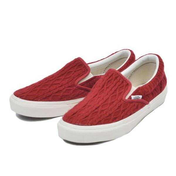 【VANS】 ヴァンズ SLIP ON スリッポン V98CL CROCHET 15FA RED