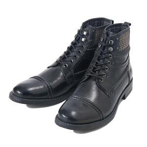 【STEFANOROSSI】ステファノロッシストレートチップブーツS-TIPBOOTSR03243NERO