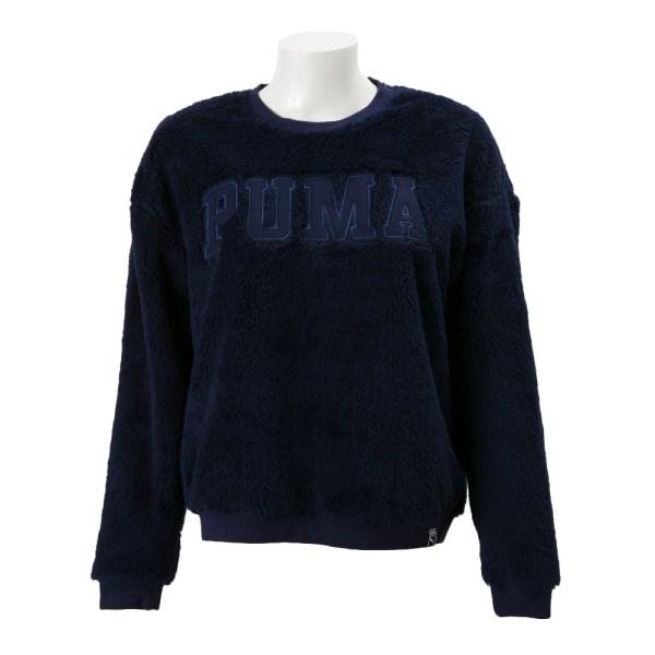 レディース 【PUMAウェア】 プーマ TEDDY クルースウェット 572261-08 16HO 08PEACOAT