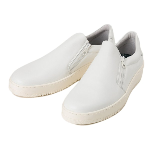 【STEFANO ROSSI】 D-ZIP SLIP-ON SR03700A BIANCO