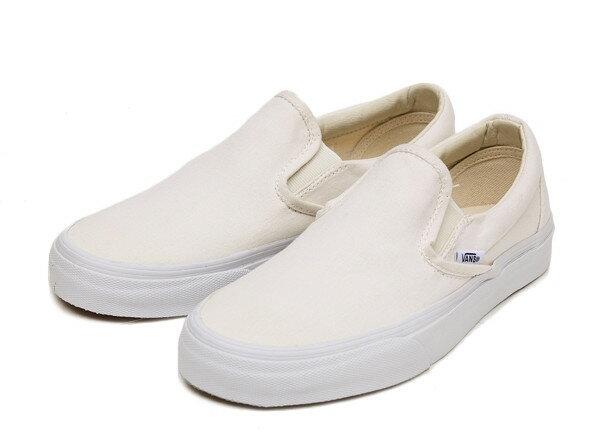 【VANS】 ヴァンズ CLASSIC SLIP-ON* クラシックスリッポン VN000EYEWHT WHITE