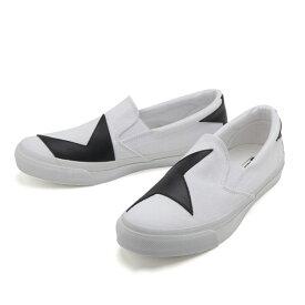 【CONVERSE】 コンバース SKIDGRIP BS SLIP-ON スキッドグリップ BS スリップオン 32461040 WHITE/BLACK