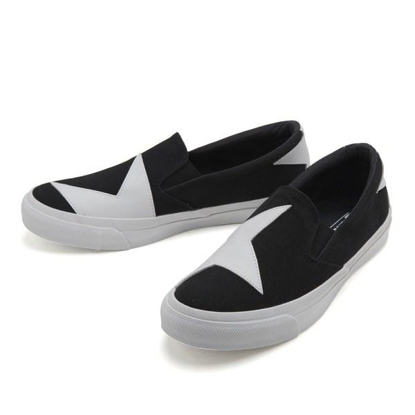 【CONVERSE】 コンバース SKIDGRIP BS SLIP-ON スキッドグリップ BS スリップオン 32461041 BLACK/WHITE