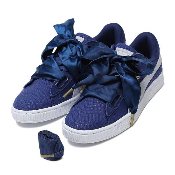 レディース 【PUMA】 プーマ W BASKET HEART DENIM プーマバスケットハートデニム 363371 *01T.BLUE/H.BLU