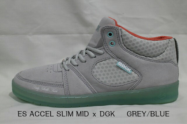 ES ACCEL SLIM MIDxDGK GREY/BLUE(グレー/ブルー)