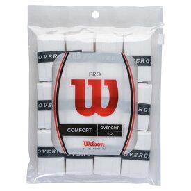 【25〜30日は5%クーポン】[グリップテープ]ウィルソン プロ オーバーグリップ 12P(Wilson PRO OVERGRIP PLAYER PACK 12)12本入り WRZ4016WH 硬式テニス オーバーグリップテープ