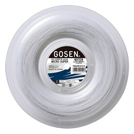 【5と0のつく日は5%クーポン】ゴーセン ミクロスーパー 16 (GOSEN MICRO SUPER 16)240m 1.30mm TS4002W ロールガット 硬式テニス ガット ストリング