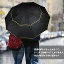 自動開閉 折りたたみ傘 風に強い ダブルキャノピー 完全遮光 晴雨兼用 CtopxCone 自動開閉折り畳み傘 2重構造 耐風撥…