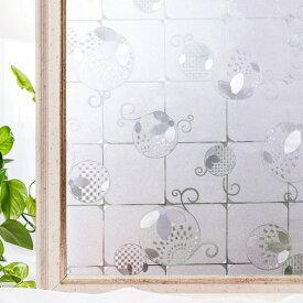 貼るだけで 模様ガラス デザインガラス アンティーク レトロ ガラスすりガラス CottonColors 窓用フィルム 目隠しシート 何度も貼直せる ガラスフィルム 紫外線カット 遮熱 90x200cm ステンドグラス043