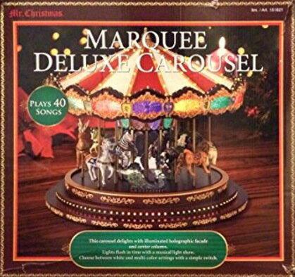 デラックス メリーゴーランド 全 40曲収録 直径 40cm クリスマス イルミネーション