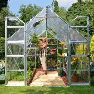 グリーンハウス ビニールハウス 温室 PALRAM GREEN HOUSE 240cm×365cm 高さ229cm (ビニールハウスと表記していますが 透明部分はポリカーボネートです)