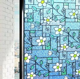 貼るだけで 磨りガラス スリガラス 擦りガラス 窓シート 窓用フィルム 目隠しシート【水で貼る 貼り直し可能】ガラスフィルム 装飾フィルム 紫外線・UVカット 艶消し (0.9M X 2M)DP003A