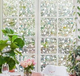 貼るだけで 磨りガラス スリガラス 擦りガラス ガラスが石坂になるフィルム 水で貼れる目隠しシート 光によってステンドグラス 貼ってはがせる 外から見えない(石坂 90 x 200cm)