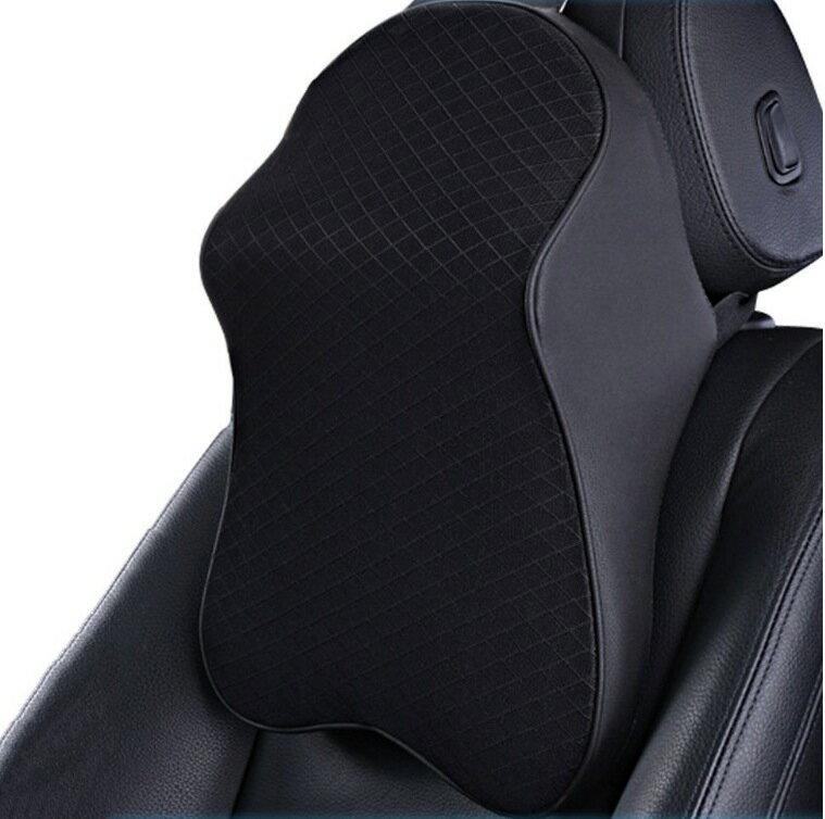 ZATOOTOネックパッド 車 クッション 低反発 ネックピロー 頚椎サポート 枕 ドライブ 旅行 運転に適用 ブラック