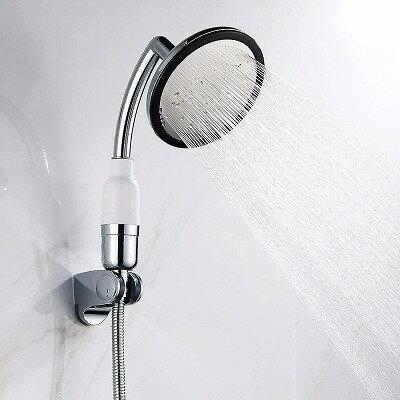 Wellbeingjp シャワーヘッド 節水 増圧 水圧アップ 節水機能 マッサージ 手元ボタン お風呂が楽しくなる 国際汎用基準G1/2 肌触り 浴びごこちやわらか とても大きい面積は水を出します 軽量 取付簡単 シャワー セット