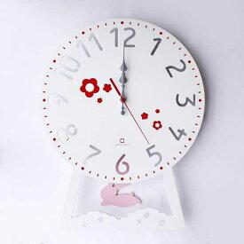 YK14-104 CHILD CLOCK チャイルドクロック 振り子時計 うさぎ はと バス 掛け時計 ウォールクロック 壁掛け 木目 北欧 新築 引っ越し 新居 新店 プレゼント ヤマト工芸 yamato japan